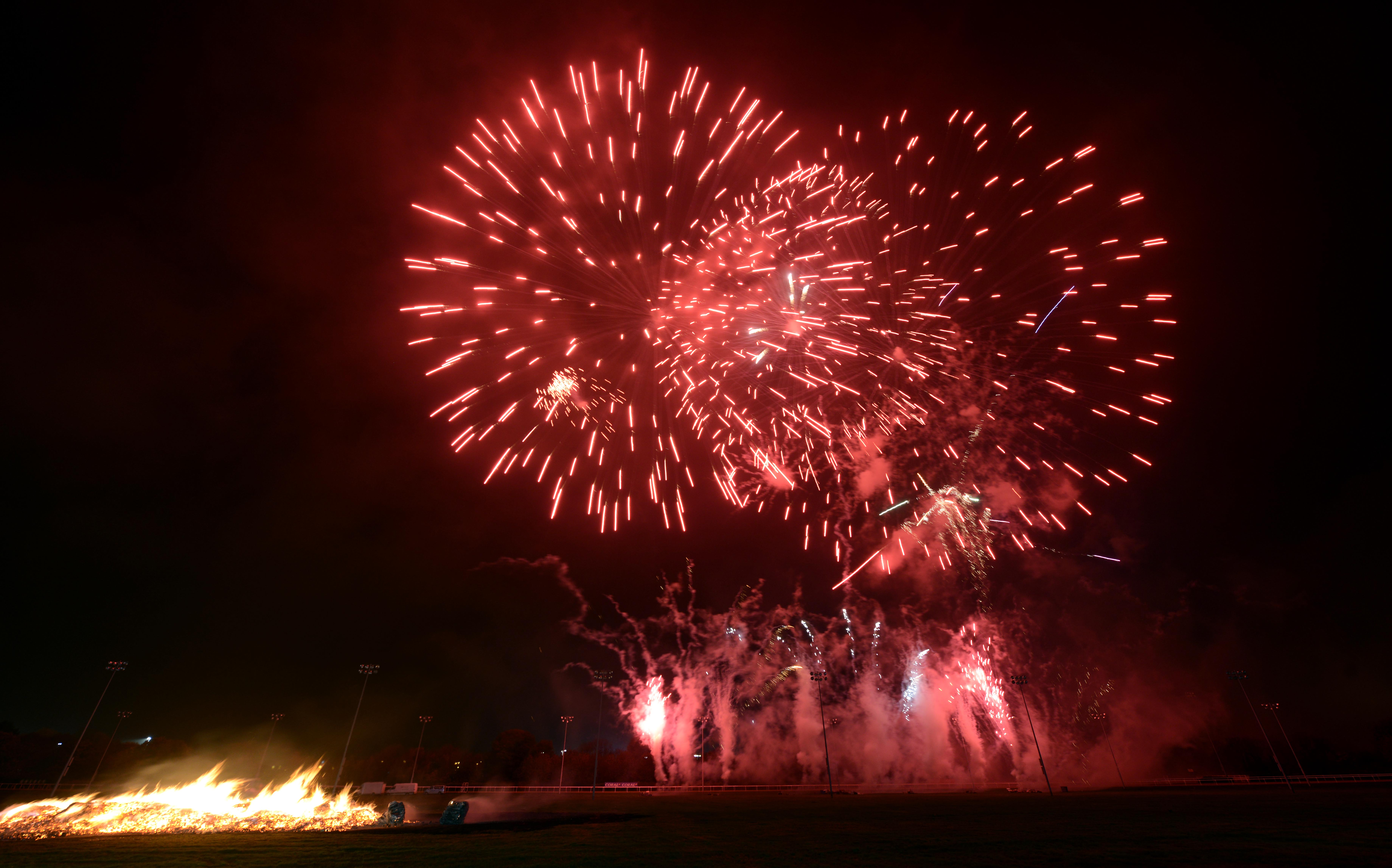 City fireworks display returns to racecourse for fourth year