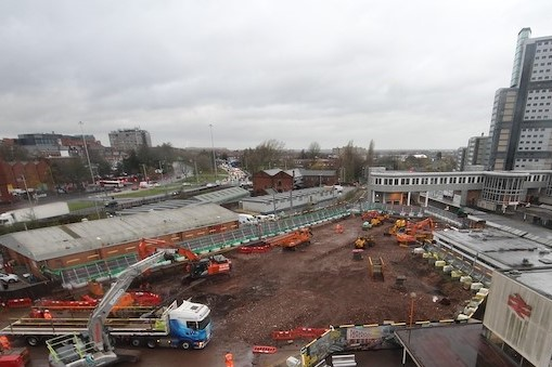 Building first phase starts on new city railway station