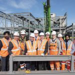 Railway station phase one steel frame close to completion