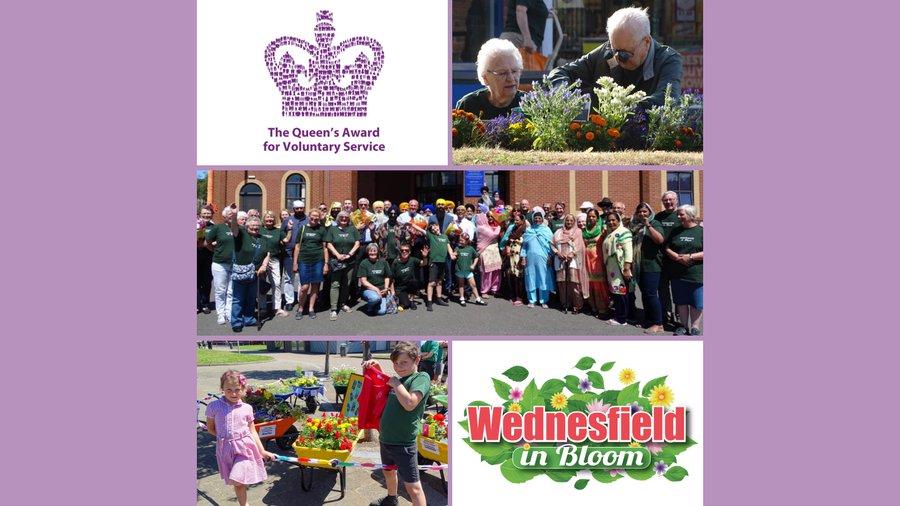 Queens Award Winners for Voluntary Service – Wednesfield in Bloom